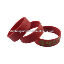 Hot!! sales custom embossed silicone wristband with any layout