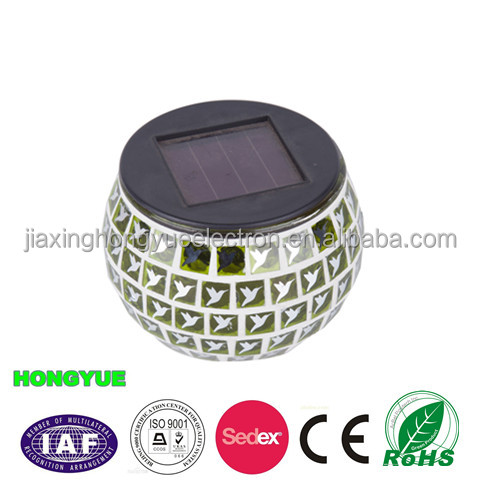 Hot-sale color changing solar glass mosaic light
