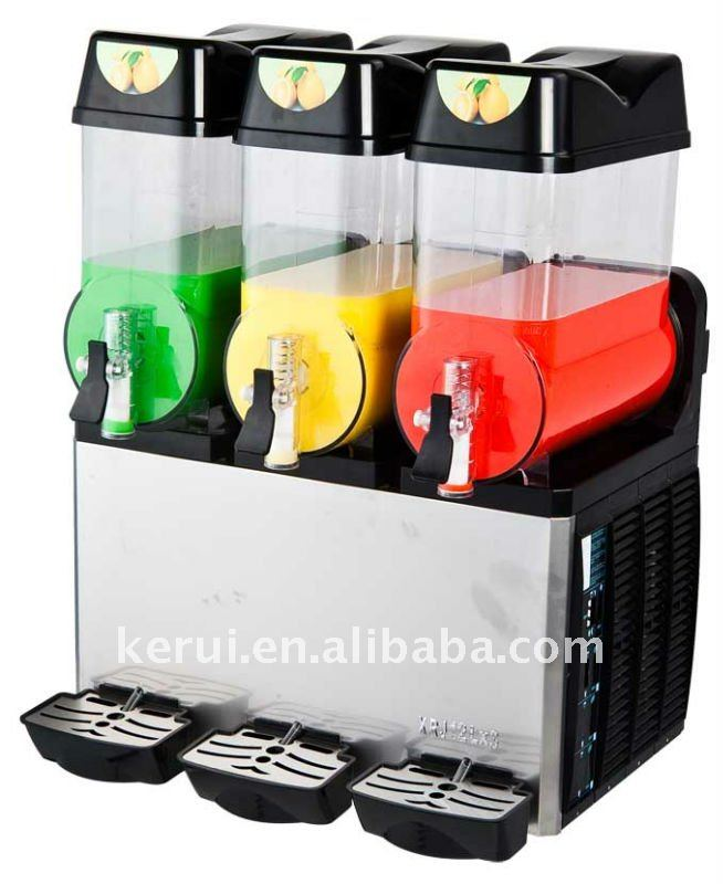 double flavour and three flavour slush machine 12liters with CE