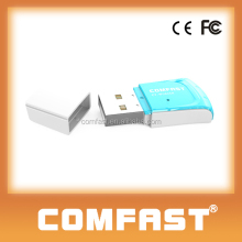 Comfast 300Mbps Mini USB WiFi Dongle Free Sample Adapter Dual Internal Antenna for Mac Laptop Desktop Original Factory