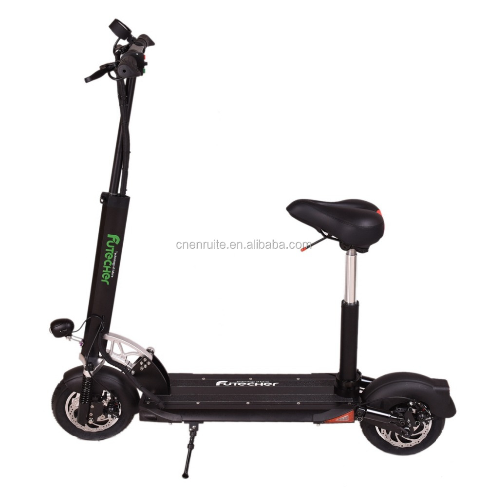 Fat Wheel Portable CE&ROHS Smart Kick Electric Scooter front and Rear Double suspension Specification Tire