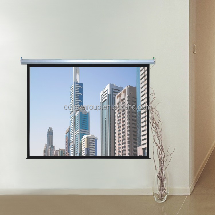 Easy operation by manual switch 1:1 image bright 94 inch Electric Projection Screen