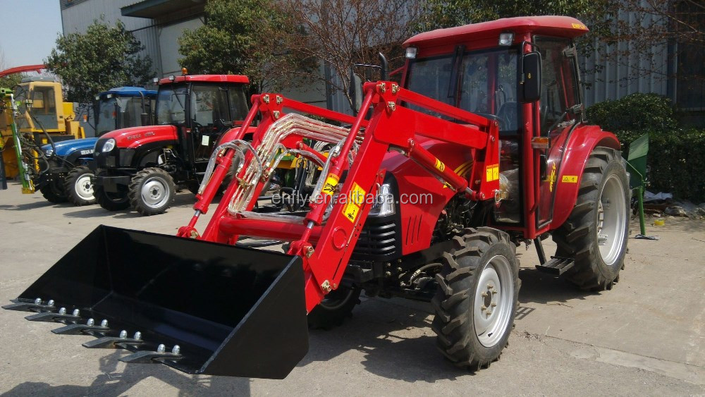 hot sale 50hp mini farm tractor machine with 4 in 1 front end loader, backhoe and other implements