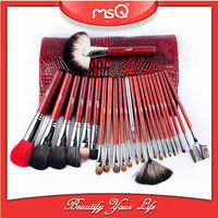 MSQ 24 pcs Top quality sable hair cosmetic brush set