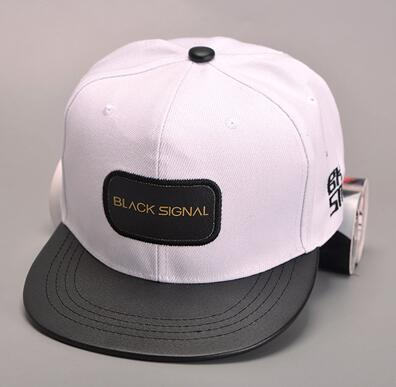 High Quality Fashion Floral Snapback Hip-Hop Hat Flat Brim Leather Straps Snapback Cap