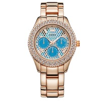 Newest trendy women size alloy rose gold large face watches