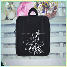 Black neoprene handle laptop bag/sleeve with handle