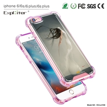 Creative latest design clear plastic air hybrid cell phone cover for iPhone6plus cover