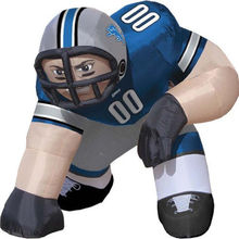 Custom giant nfl inflatable football player lawn figure for advertising