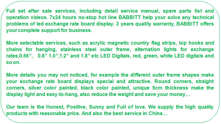 lobby digital visual price sign stand / foreign currency exchange sign display board