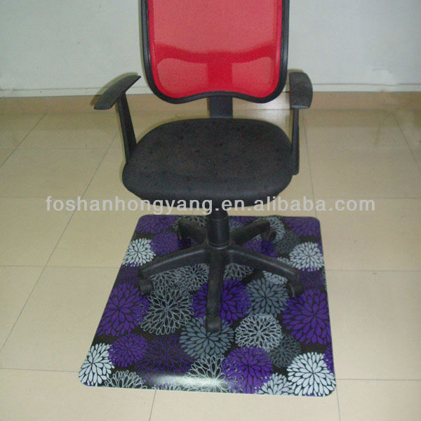 Printed chair mat