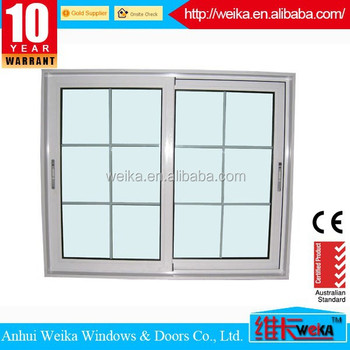 french pvc sliding window grille