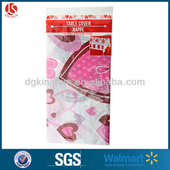 PE Plastic fashion banquet Table Cover-Heart printing supplies