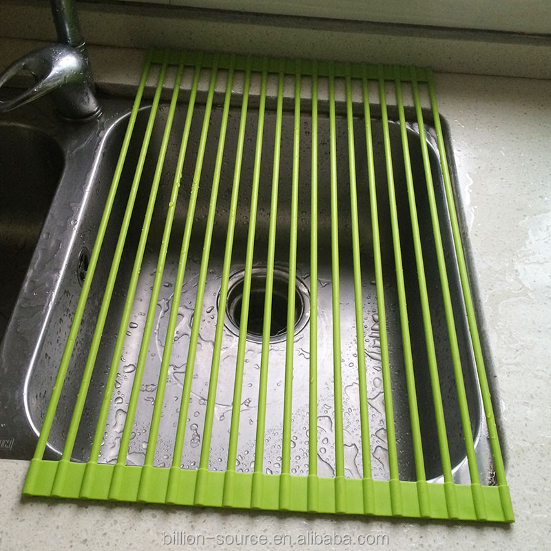 Silicone rubber kitchen heat-resistant dish drying mat