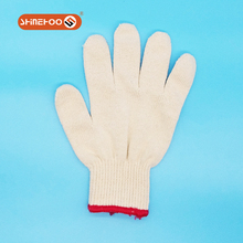 SHINEHOO White Polycotton Labor Hand Protection Gloves