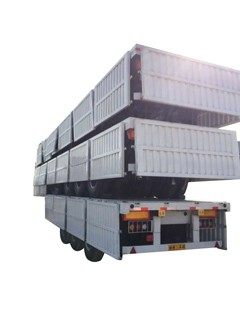 Side wall open cargo fence truck trailer for sale