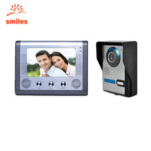 "7"" LCD Wired Video Door Phone Doorbell Home Security Systems Support Monitoring, Unlocking, Hands-free Intercom"