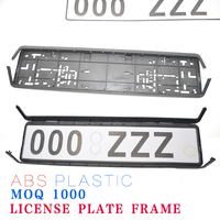 High quality European ABS plastic license plate frame