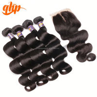 20 inch virgin body wave bundles human weave extension cheap price top 10 brand premium hair aaa quality hair