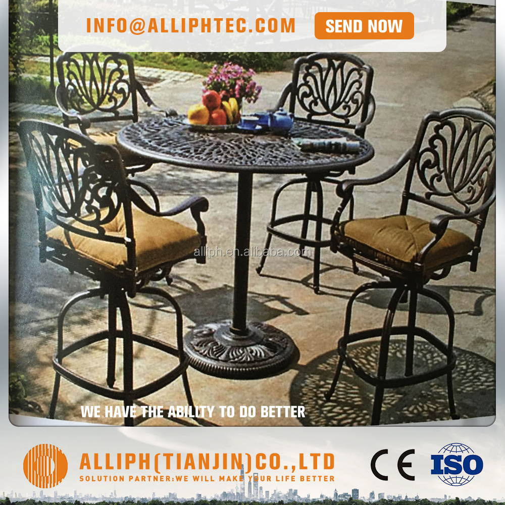 High quality Aluminum furniture outdoor bar stool table set