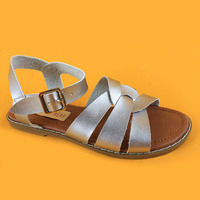 Childrens Fashion Buckle Strap Flat Sandals