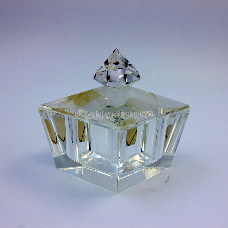 Natural handmade crystal jewelry box wedding thank you gifts for guests from factory supply