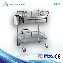 Stainless steel dressing cart