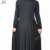 2018 KJ high quality South Korea ITY 200G fashion muslim dress factory supply stretch islamic women abaya jubab big hem pleats