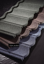 Economic chinese cheapest classic stone coated steel roofing tile from Guangzhou