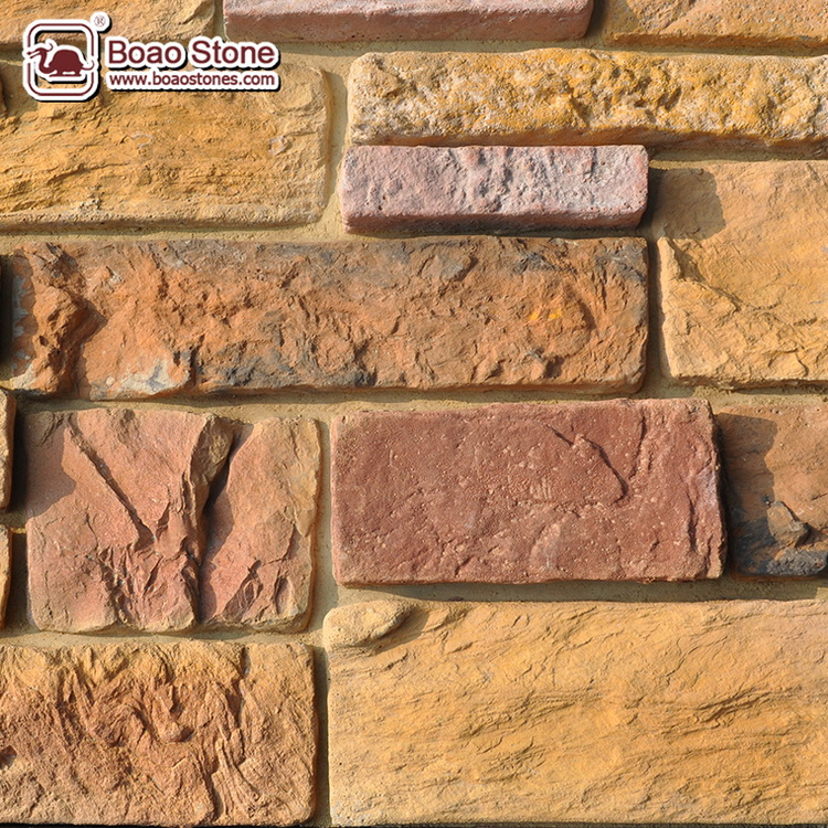 Sedimentary decorative concrete block culture stone wall