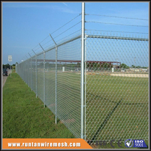 commercial /residential chain link fence top barbed wire/chain link fabric,framework ( 20 Years Professional Factory )