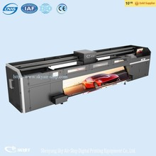 skyjet uv glass printer hybrid flat printer with roll to roll function for flex or rigid material