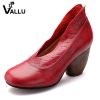 2017 Handmade Retro Women Shoes Pumps