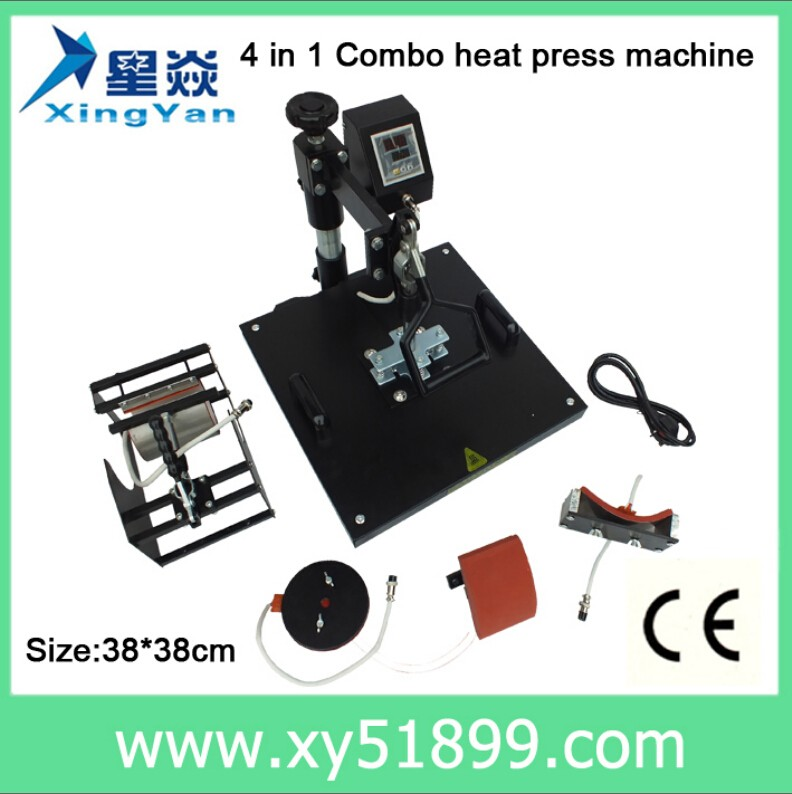 38*38CM 4 in <strong>1</strong> <strong>c</strong> rosin press machine high quality leather logo embossed hot stamping machine