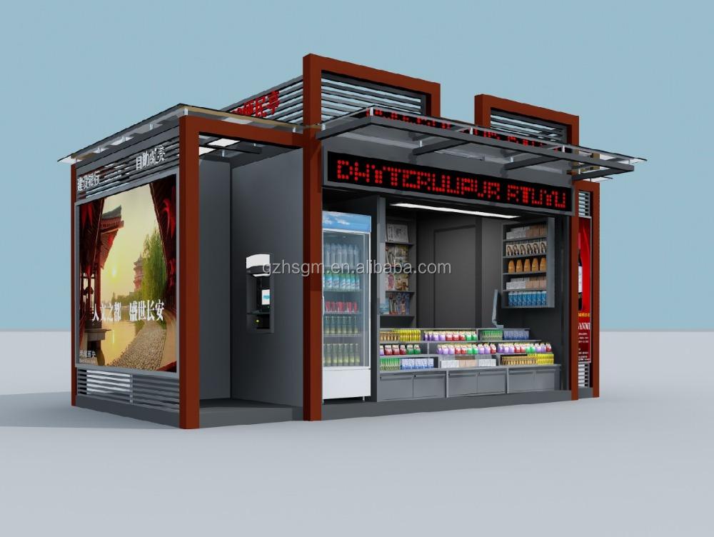 Outdoor retail coffee and tea kiosk outdoor mobile shop for Mobili kios