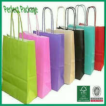 Luxury colorful clothing paper shopping bag