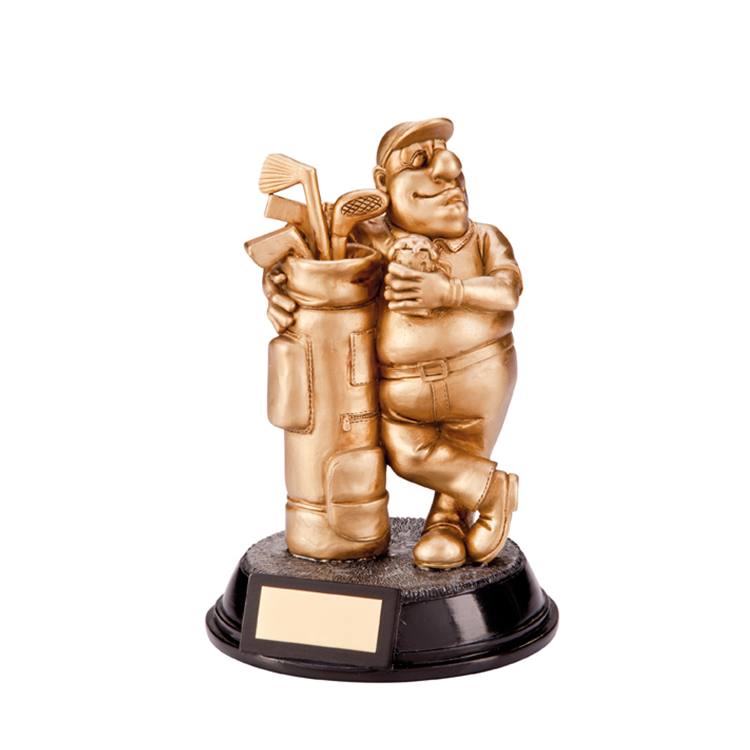 Funny Golf Figure Resin Achievement Award Trophies