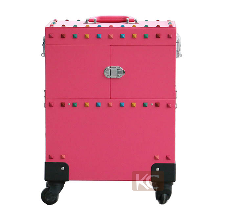Made In China Wheeled Cosmetic Design Beauty Rolling Trolley Case
