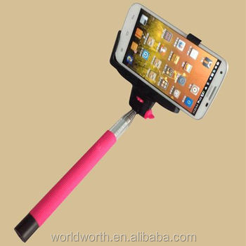 2014 wholesale monopod self-portrait camera Z07-5 Kjstar selfie stick with bluetooth monopod z07-5