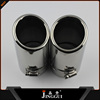 central rear exhaust muffler/car silencer for audi