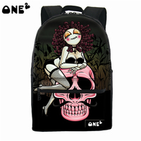 ONE2 design sexy girl printed fashionable school bags