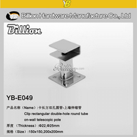 Thick steel square/Oval pipe bracket pipe connectors/tube fitting