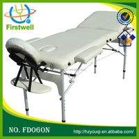portable 2 fold massage table couch bed with facial hole