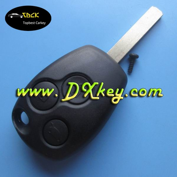 3 buttons remote control car cover for renault key case renault key cover without logo