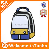 New arrival fashion cute 2D school bag /wholesale unisex 3D cartoon backpack