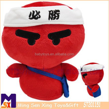 Super soft red SHENZHEN TOY,Cartoon character soft toy,Lucky doll