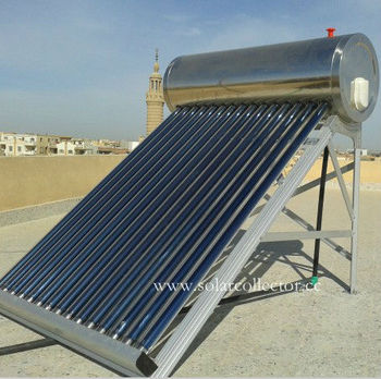 Low Price Thermosiphon Unpressurized Vacuum Tube Solar Geyser