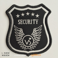 polyester woven labels stuffing woven patch heat seal label