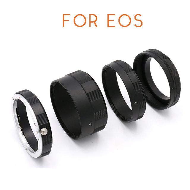 Metal Macro Extension Tube Ring Adapter Set for CANON DSLR Camera Lens 50D 60D 70D 600D 7D Rebel T1i XTi T2i T3i T4i T5i