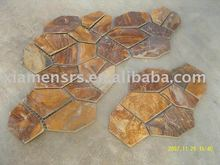 Rusty Yellow Crazy Paving Slate